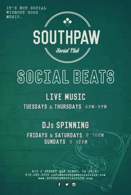 MVR Now Presenting Live Music @ Southpaw Social Club