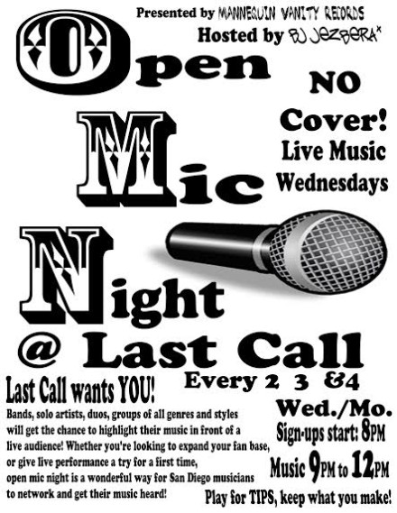 MVR Now Presenting Open Mics at Last Call