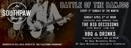 MVR Presents: Battle of the Banjos @ Southpaw Social Club