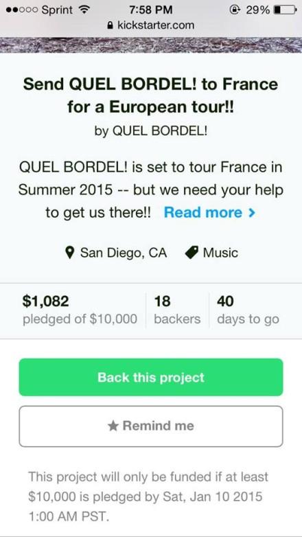 QB! Raises $ For France Tour!