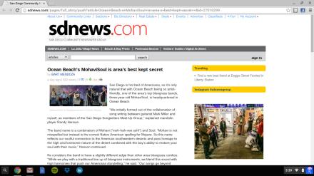 MohaviSoul Featured on SDNews.com!