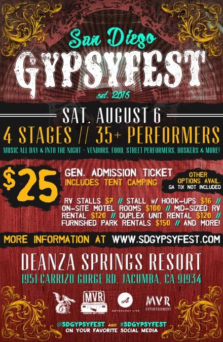 SD GypsyFest Announced for Aug 6th!