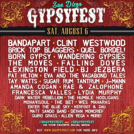 SD GypsyFest Lineups Announced!