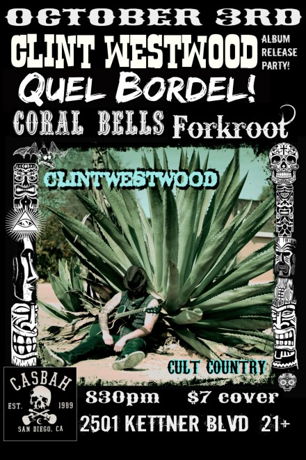 "Clint Westwood ""Cult Country"" CD Release October 3rd!"