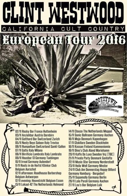 Clint Westwood European Tour 2016