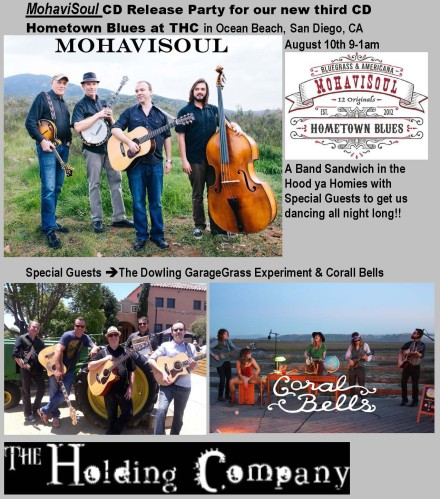 "MohaviSoul ""Hometown Blues"" CD Release Party at THC 8/10!"